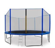 Aga Sport Pro Trampolina ogrodowa 430cm 14ft z siatką zewnętrzną, drabinką i torbą na buty - Blue