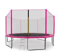 Aga Sport Pro Trampolína 430 cm Pink + ochranná sieť + schodíky + vrecko na obuv