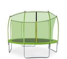 Aga Sport Fit Trampolina ogrodowa 366cm 12ft z siatką wewnętrzną - Light Green