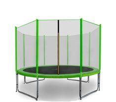 Aga Sport Pro Trampolina ogrodowa 335cm 11ft z siatką zewnętrzną - Light Green