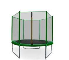 Aga Sport Pro Trampolina ogrodowa 150cm 5ft z siatką zewnętrzną - Dark Green