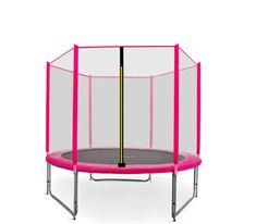 Aga Sport Pro Trampolina ogrodowa 150cm 5ft z siatką zewnętrzną - Pink