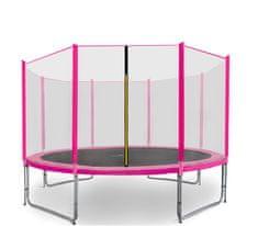 Aga Sport Pro Trampolina ogrodowa 366cm 12ft z siatką zewnętrzną - Pink