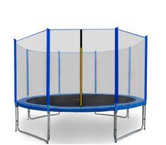 Aga Sport Pro Trampolina ogrodowa 366cm 12ft z siatką zewnętrzną - Blue