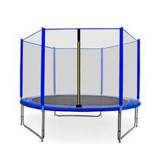 Aga Sport Pro Trampolina ogrodowa 305cm 10ft z siatką zewnętrzną - Blue