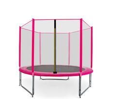 Aga Sport Pro Trampolina ogrodowa 250cm 8ft z siatką zewnętrzną - Pink