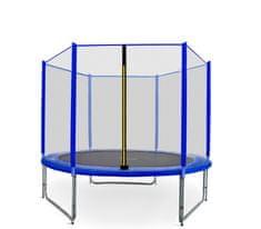 Aga Sport Pro Trampolina ogrodowa 250cm 8ft z siatką zewnętrzną - Blue