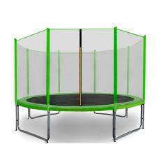 Aga Sport Pro Trampolina ogrodowa 366cm 12ft z siatką zewnętrzną - Light Green