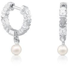 Tous Ezüst fülbevaló valódi gyöngyökkel 512723510 ezüst 925/1000