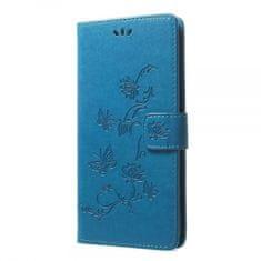 torbica Onasi Butterfly za Samsung Galaxy A70 A705, preklopna, plava
