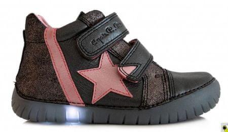 D-D-step egé éven hordható cipő lányoknak 26.0 fekete