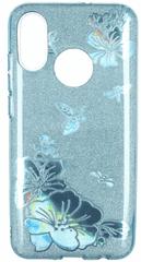 maska za Samsung Galaxy A50 A505, plava sa šljokicama