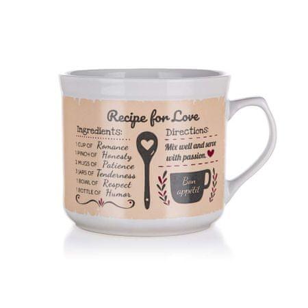 Banquet keramična skodelica RECIPE FOR LOVE, 700 ml, 6 kosi