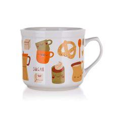 Banquet Duży kubek ceramiczny COFFEE 700 ml, 3 szt