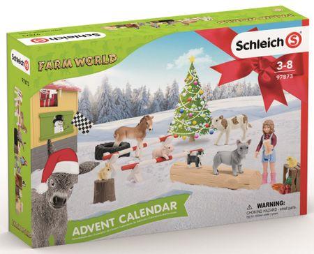 Schleich adventni koledar 2019 - Domače živali