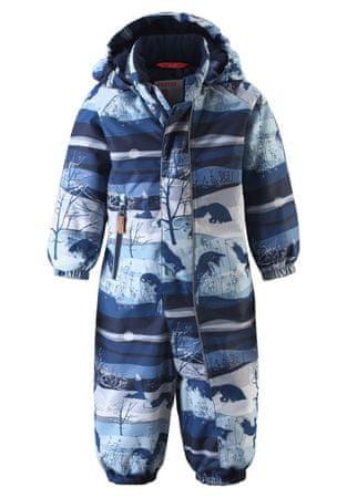 Reima detský overal Puhuri 74 modrá džínsová