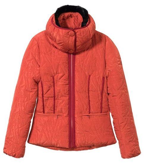 Desigual dámska bunda Padded Bristol 36 oranžová