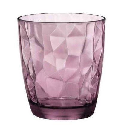 Bormiolli kozarci DIAMOND, 300 ml, vijolični, 6 kosov