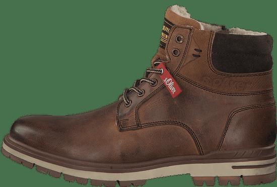 s.Oliver pánská kotníčková obuv 16208 43 hnědá