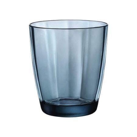 Bormiolli Poháre PULSAR 300 ml, modrá, 6 ks