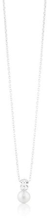 Tous Stříbrný náhrdelník s pravou perlou a medvídkem 214832500 (řetízek, přívěsek) stříbro 925/1000
