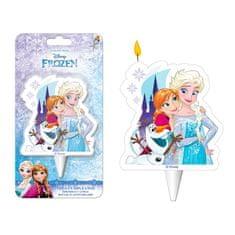 Dekora Dortová svíčka ledové království 6,5cm Elsa a Ana