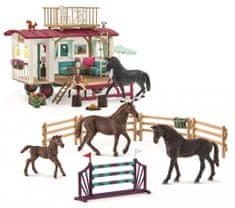 Schleich Karaván és edzési felszerelés lovakkal 72141