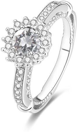Beneto Ezüst gyűrű AGG185 kristályokkal (áramkör 50 mm-es) ezüst 925/1000