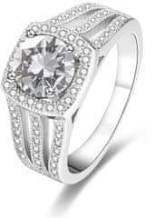 Beneto LuksusowySrebrny pierścień z kryształkami AGG183 srebro 925/1000