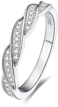 Beneto Strieborný prsteň s kryštálmi AGG184 (Obvod 52 mm) striebro 925/1000