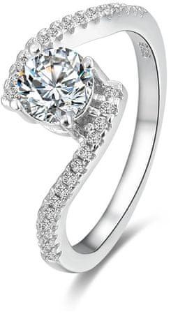 Beneto Srebrni prstan s kristali AGG186 (Vezje 50 mm) srebro 925/1000