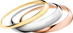 Calvin Klein Luxusná sada troch pevných náramkov Groovy KJ8QDD30010