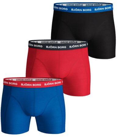 Björn Borg 3 - pak bokserek męskich Shorts Contrast Solid 9999-1028 M wielokolorowy