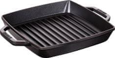 Staub čtvercový litinový gril, 23 x 23 cm, černá