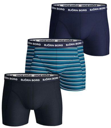 Björn Borg férfi boxeralsó 3 darabos csomagolás Shorts BB Stripe 9999-1240 L, kék