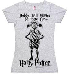 Harry Potter Dámské tričko Harry Potter - Dobby, šedé Velikost: S