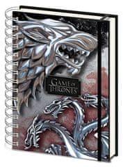 Game of Thrones Kroužkový blok A5 Hra o trůny - Stark & Targaryen