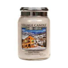 Village Candle Vonná sviečka v skle Sviatočné Aspen (Aspen Holiday) 645 g