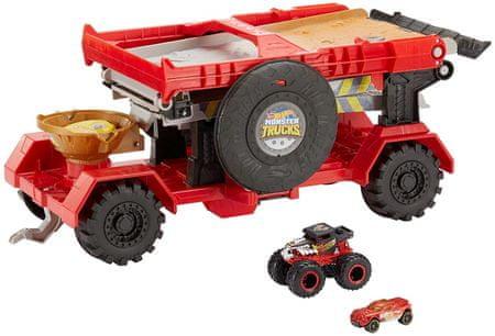 Hot Wheels zestaw kaskaderski Monster Trucks z rampą 2w1