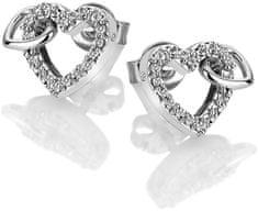 Hot Diamonds Błyszczące Kolczyki z prawdziwym diamentem Flora DE605 srebro 925/1000