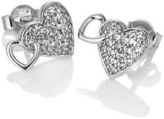Hot Diamonds Błyszczące Kolczyki z prawdziwym diamentem Flora DE607 srebro 925/1000