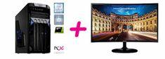 PCX Exam Gaming 4.0 namizni računalnik + Samsung C27F390FHU monitor