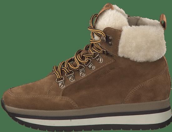 s.Oliver dámska zimná členková obuv 25209 36 hnedá