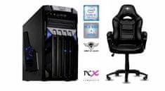 PCX Exam Gaming 4.0 namizni računalnik + Spirit of Gamer Fighter gaming stol, črn