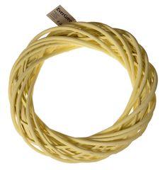 EverGreen Veniec prútený pr. 30 cm, žltá