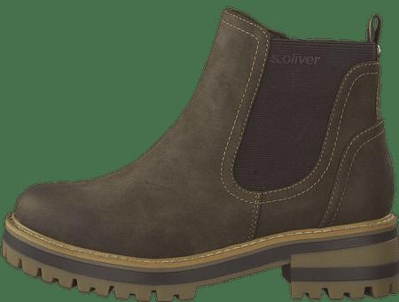 s.Oliver dámská kotníčková obuv 25409 36 hnědá