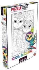 AnaTolian Coloring puzzle Rodina soviček 260 dílků
