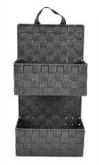 DUE ESSE Závěsný šedý 2dílný nylonový organizér 48 x 25 x 12 cm