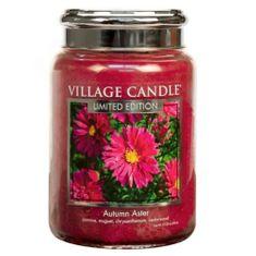 Village Candle Dišeča sveča v steklu (Autumn Aster) 602 g