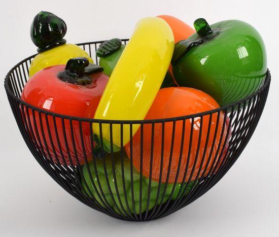 DUE ESSE Mísa na ovoce 30 cm, černá